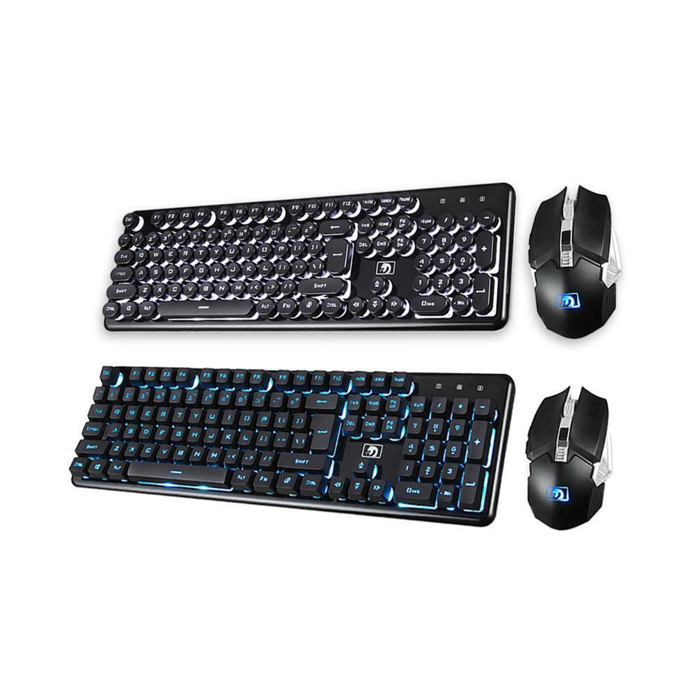 2.4GHz Backlit Ergonomic Gaming Wireless Keypad 104 Keys Key