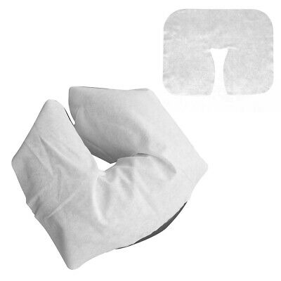 100PCS DISPOSABLE FACE CRADLE COVERS SOFT HEADREST PADS FOR MASSAGE TABLE CHAIR for sale  Shipping to United Kingdom