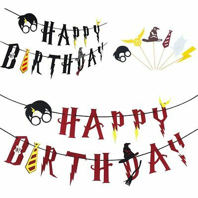 irthday Banner Cake Picks Cupcake Toppers Geburtstag Party (Cupcake Party)