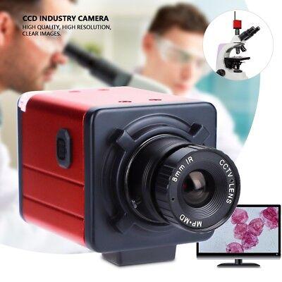 Hd Industrial Microscope Camera Bnc Vga Usb Av Tv Output Zoom C-mount Lens Red