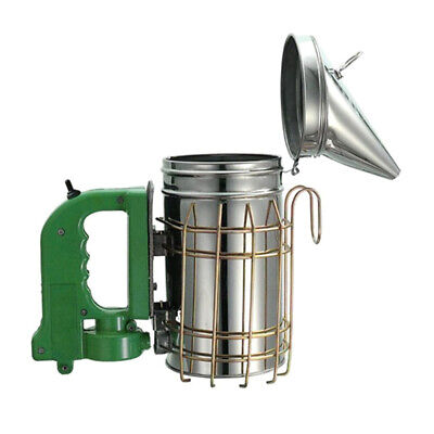 Stainless Steel Electric Bee Hive Smoker Equipment Wheat Shield Beekeeping Uses