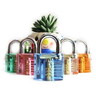 Locksmith Transparent Cutaway Practice Padlock Lock Training Skill Pick Visable