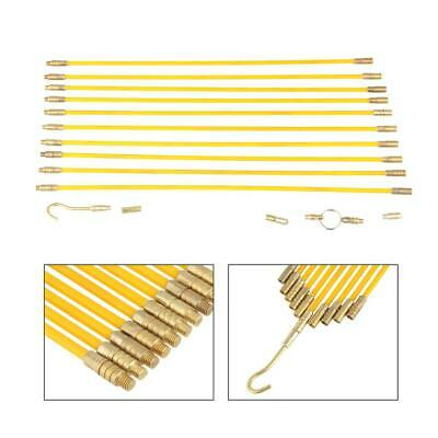 10 Pcs Fiberglass Cable Running Rods Kit Fish Tape Electrical Wire Coaxial Set