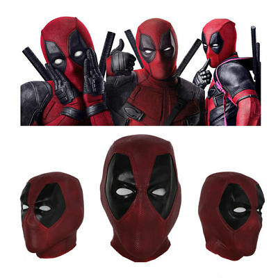 Deadpool Mask Latex Cosplay Costume Props Red Mask Halloween Props Mask New