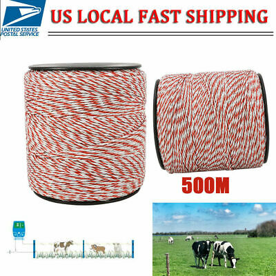 Electric Fence Poly Wire White Red Stainless Steel Horse Fencing Low Resistance