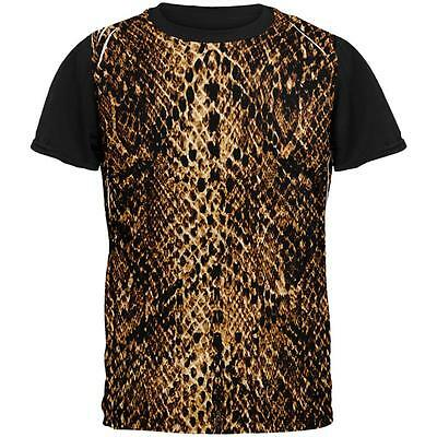Halloween Desert Brown Snake Snakeskin Costume All Over Mens Black Back T - Halloween Desert