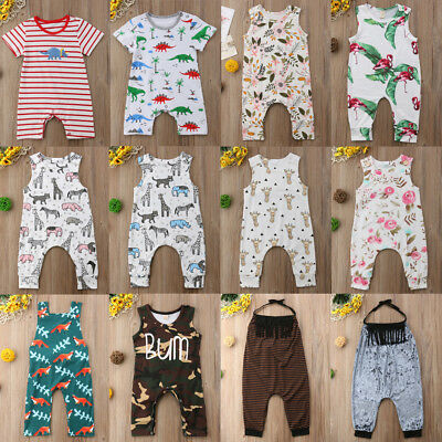Newborn Infant Kid Baby Boy Girl Romper Bodysuit Jumpsuit Clothes Outfit Lots US