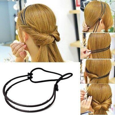 Top Frisurenhilfe Styling Haarreif Haarband Headband Haarschmuck Elastisch