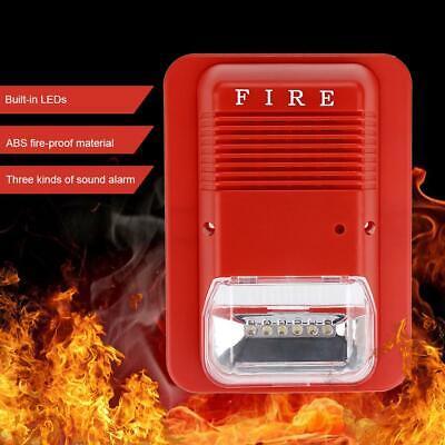 Sound Light Fire Alarm Warning Strobe Siren Horn Alert Safety System Sensor Us