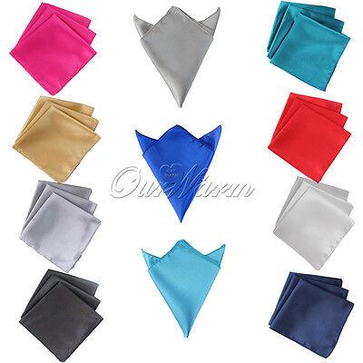 """10 Square Satin Cloth Napkin 12"""" Handkerchief Multi Purpose Wedding Party Decor"""
