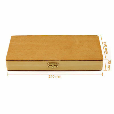 Us Microscope Slides Wooden Box Case Cabinet Holder For 50pcs Slides Storage Kit