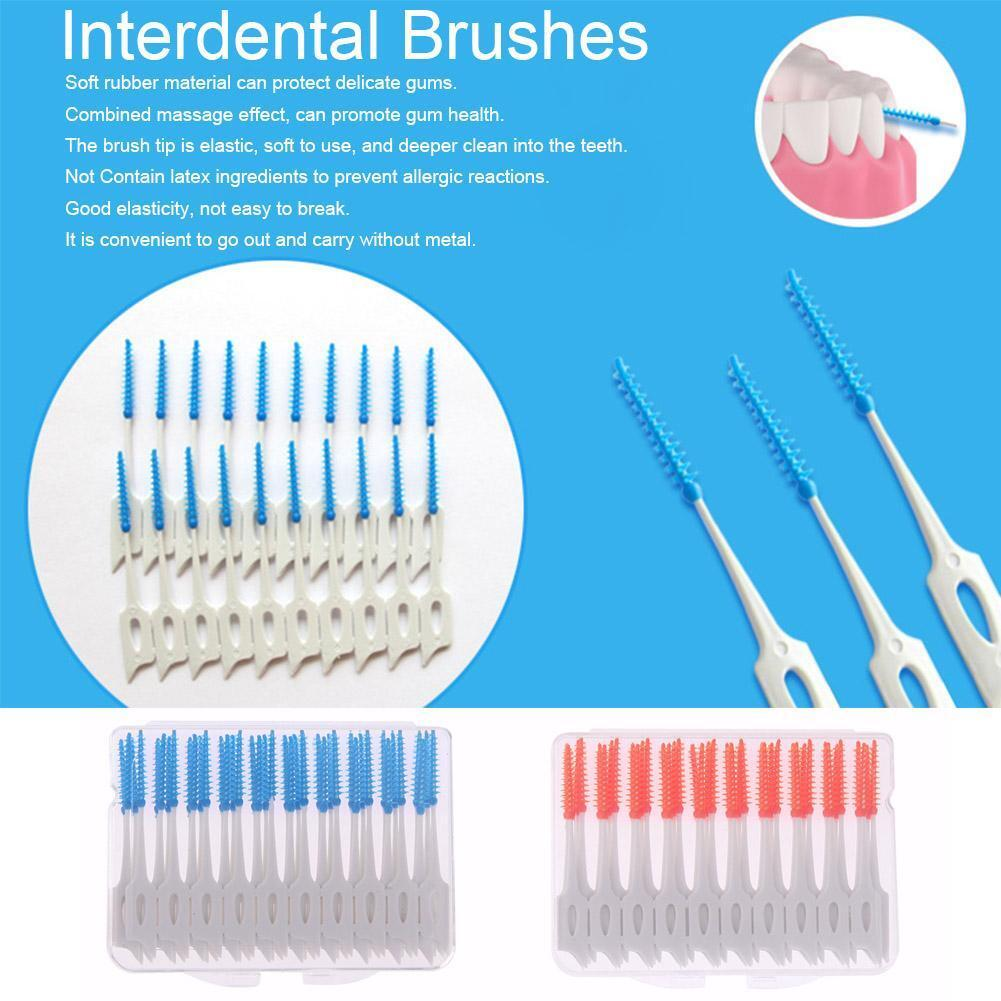 80pcs/Box Clean Tooth Dental Oral Care Floss Adult Interdental Brushes Toothpick