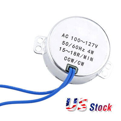 CNBTR Synchronous Synchron Electric Motors TYC-50 15-18 RPM CW//CCW AC110V 4W...