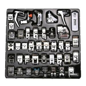 42Pc Domestic Sewing Machine Presser Foot Feet Set For Janome Brother Singer Kit