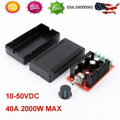 Dc Motor Speed Control Pwm Hho Rc-controller 10-50v 40a 2000w Max Us