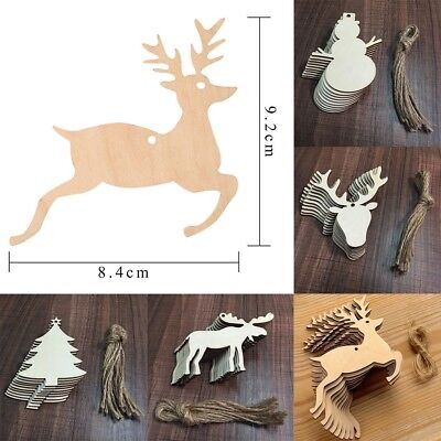 10pcs Wooden Craft XMAS Ornament Christmas Tree Hanging Decorations Hot Sale - Christmas Ornament Sale
