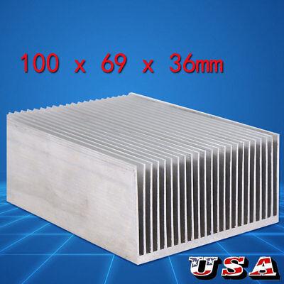 1006936mm Aluminum Heatsink Heat Sink Radiator For Led Amplifier Transistor