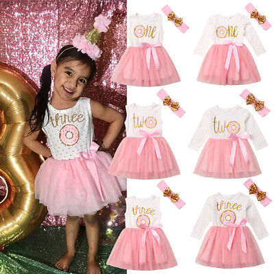 Sleeveless Baby Girls Princess Party Tutu Dress Donut Birthday Dresses Toddler](Party Dresses Toddlers)