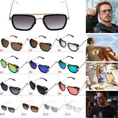 Iron Man Sunglasses Colored Lens Robert Downey TONY STARK Personalized - Sunglasses Personalized