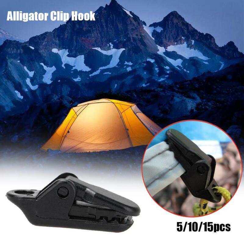 kit Alligator Clip Hook tarp clips Camping Tent Holder canvas Tighten tool