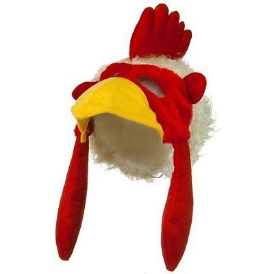 Rooster Cock Chicken Bird Hat Cap Mask Beak Costume NEW Mascot Spirit Accessory