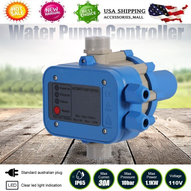 AUTOMATIC WATER PUMP CONTROLLER PRESSURE SWITCH ELECTRIC ELECTRONIC CONTROL 110V