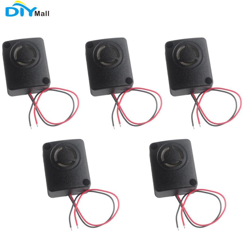 5pcs Black Mini Piezo Alarm Siren 110dB 12V DC Anti-theft High-Decibel Buzzer