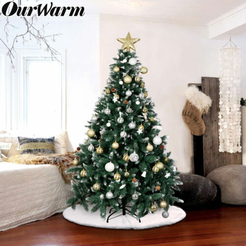 6ft Flocked Snow Artificial Christmas Tree & Stand 1000 Tips