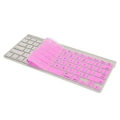 "Pink Slim Keyboard Cover Silicone Skin Protector MacBook Pro 13"" 15"" 17"" iMac"