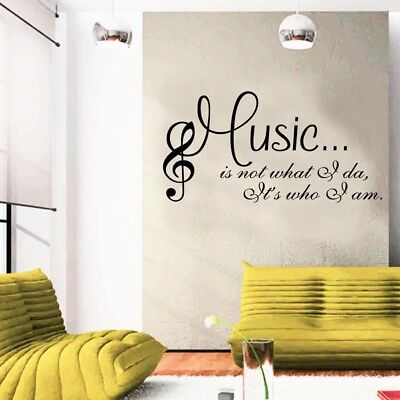 Creative Music is Who I am Wall Art Sticker Studio Musician Bedroom Decal Decor](Musical Decor)