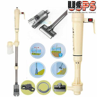Electric Siphon Vacuum Cleaner Pump Water Filter Pump for Aquarium Fish US STOCK