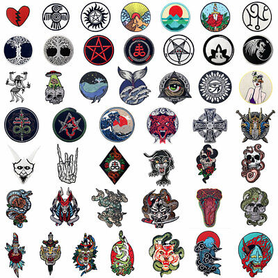 Lots New Embroidered Patches Clothing Iron Sew On Appliques Christmas Gifts -