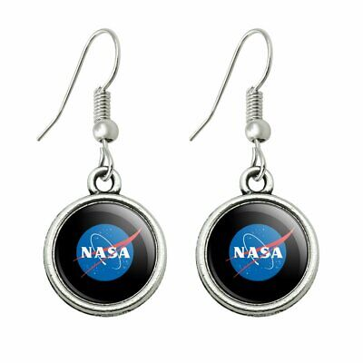 Official Logo Earrings (NASA Official Meatball Logo Novelty Dangling Drop Charm Earrings )