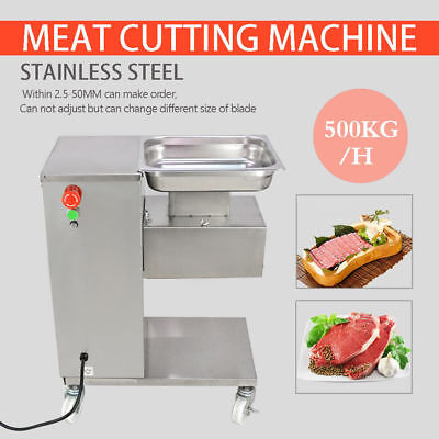 500kg Output 110v Meat Cutting Machine Meat Cutter Slicer With One Blade New