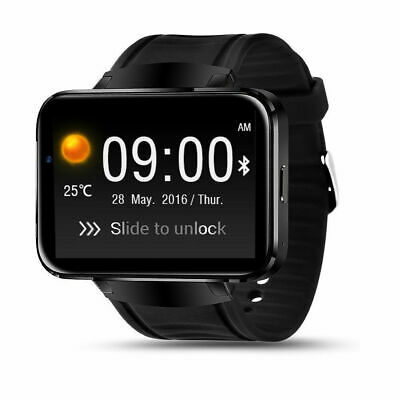 "Android 4.4 Smart Watch Phone 2.2"" Big Screen 3G Clock Camera WIFI GPS Video"