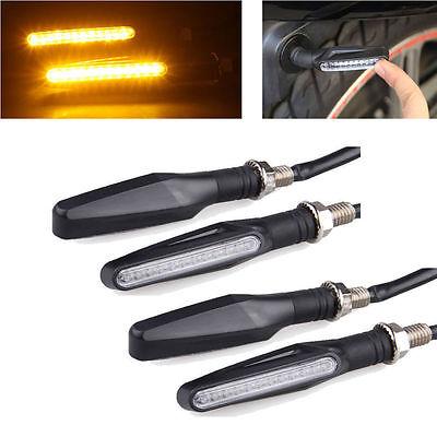 4x Motorcycle Amber LED Turn Signal Bike Indicators Light Lamp For All Bikes for sale  DELHI