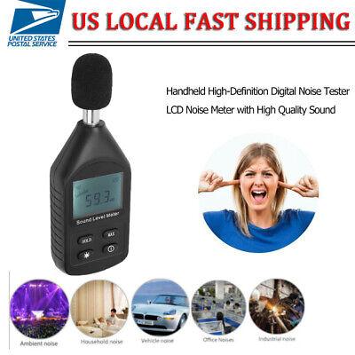 Lcd Digital Sound Level Meter Noise Detect Tester Data Decibel Logging 30-130db