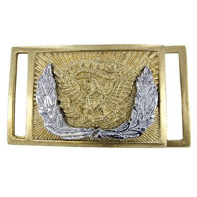 Reproduction Union Officers' Civil War Brass Re-enactment Plate Belt Buckle
