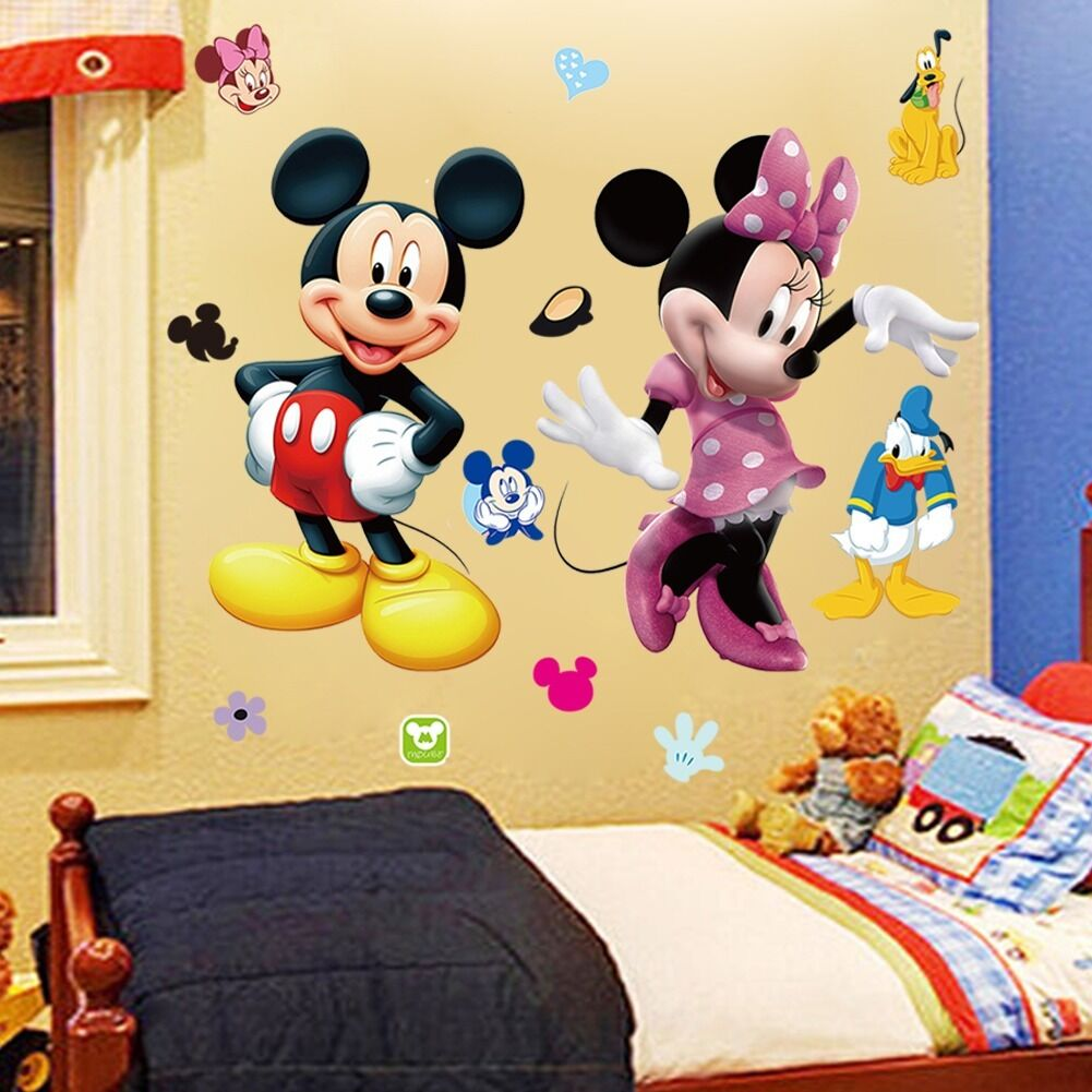 Mickey Mouse Minnie Vinyl Wall Decals Sticker Kids Nursery Room ...