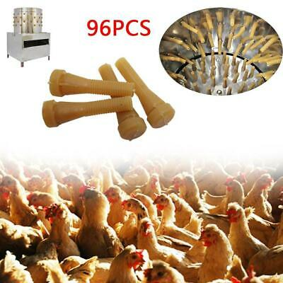 96pcset Chicken Plucker Picker Poultry Fingers Duck Goose Hen Hair Removal Rods
