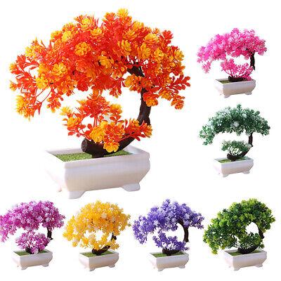 Simulation Fake Potted Bonsai Tree Artificial Plant Desk Ornament Home Decor -