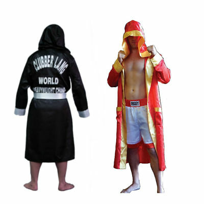 Rocky Robe (Choose Your Style) Italian Stallion Boxer Costume Shamrock Mr. T - Shamrock Costume