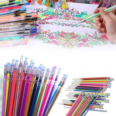 12/24/36/48 Colors Office School Supplies Gel Pen Refill Cartridge Painting Art Pens & Markers