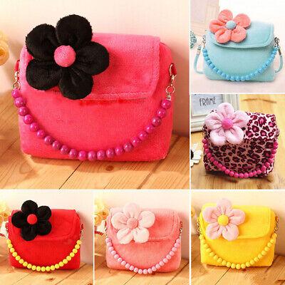 Girl Cute Plush Flower Handbag Shoulder Bag Messenger Bag fo