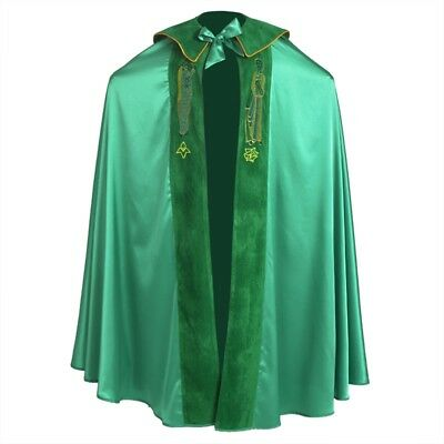 Christian Catholic Jesus Christ Bird IHS Embroidery Cope Bishop Green Cape Cloak