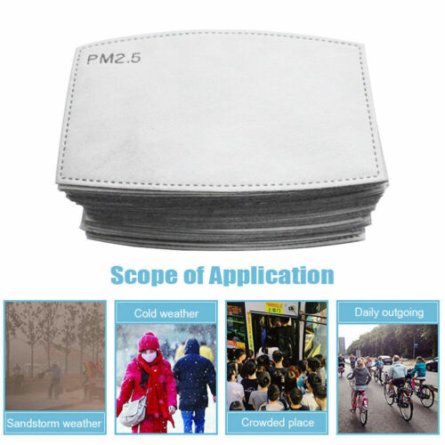 50pcs PM2.5 Activated Carbon 6 Layer Filter Replaceable Filter Air Paper