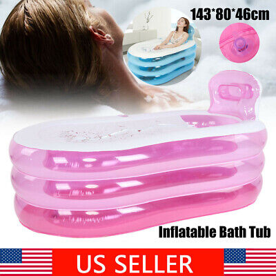Adult Inflatable Bathtub (Large Adult Spa PVC Folding Portable Bathtub Warm Soaking Inflatable Bath Tub)