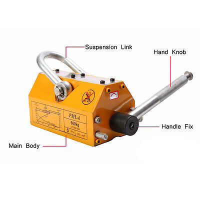 Usa 1320lb Heavy Duty 600kg Steel Lifting Magnet Magnetic Lifter Hoist Crane