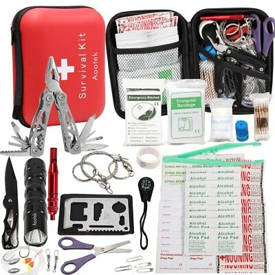Best Emergency Survival First Aid 188 Pcs Kit for Outdoor Gear Camping