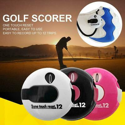 Golf Stroke Score Counter -Fits in Pocket or Attaches to Glove -1 Touch Reset US ()